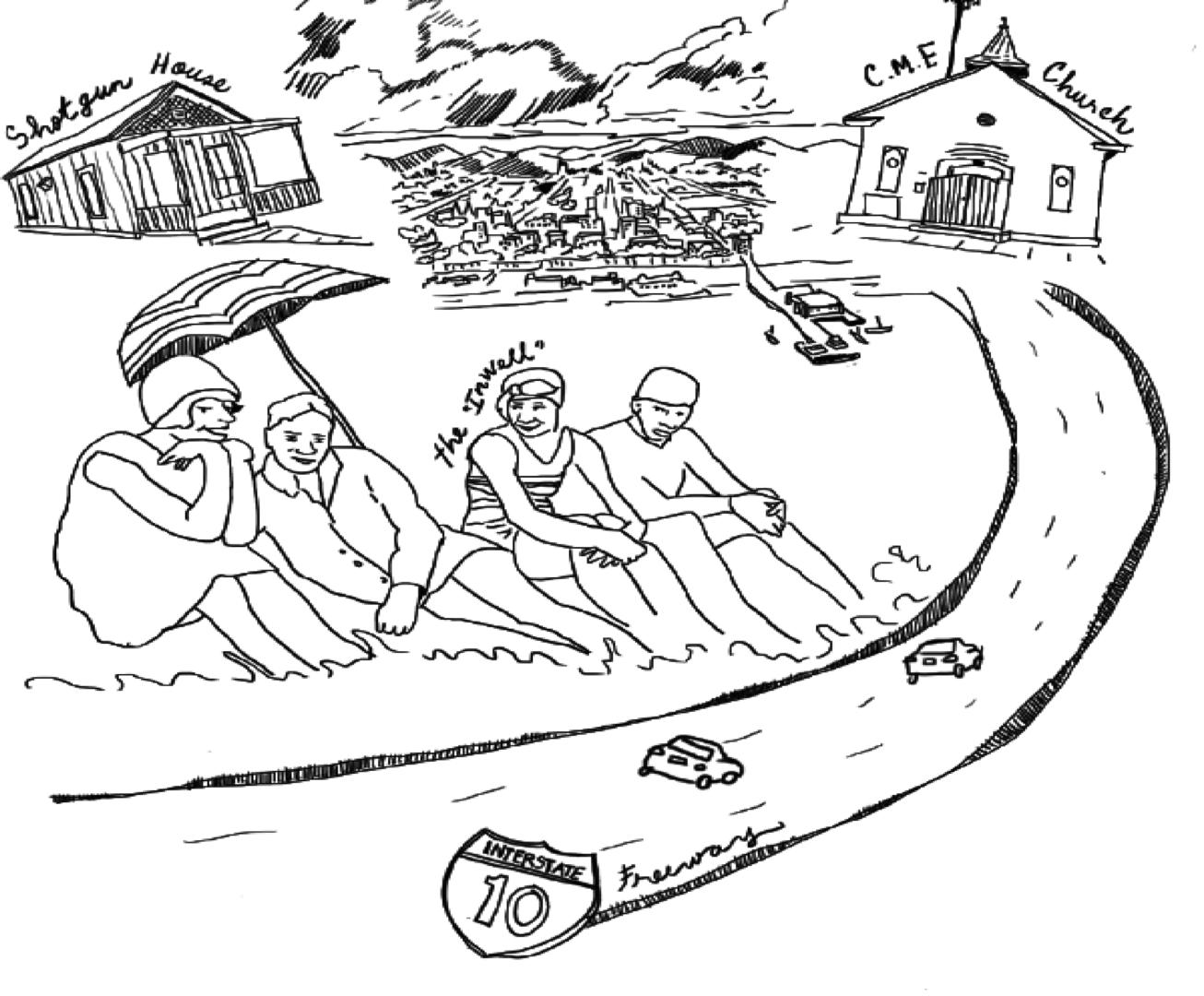 black-santa-monica-illustration